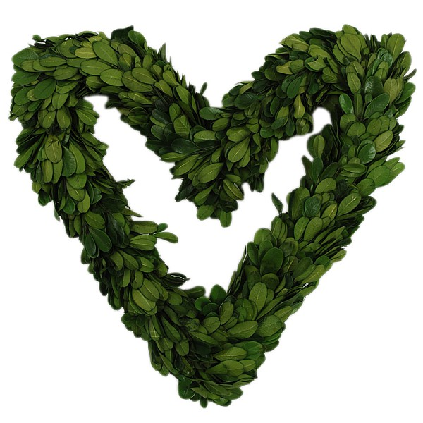 Heart Wreath Boxwood - 25 cm