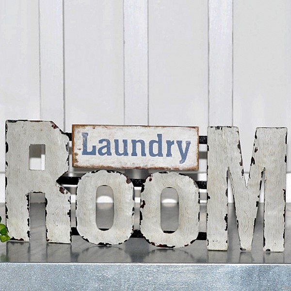 Metal Sign Laundry Room