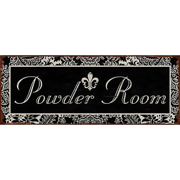 Tin Sign Powder Room