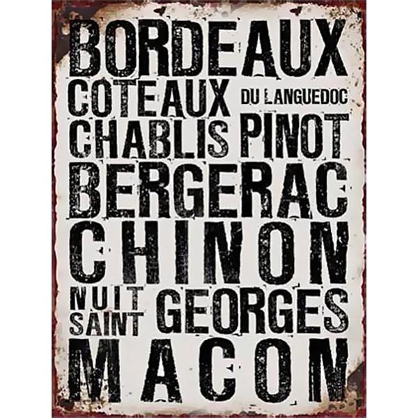 Tin Sign Bordeaux