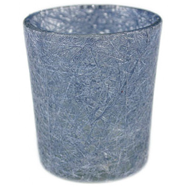 Glass Fibre Tealight Holder Jeans Blue