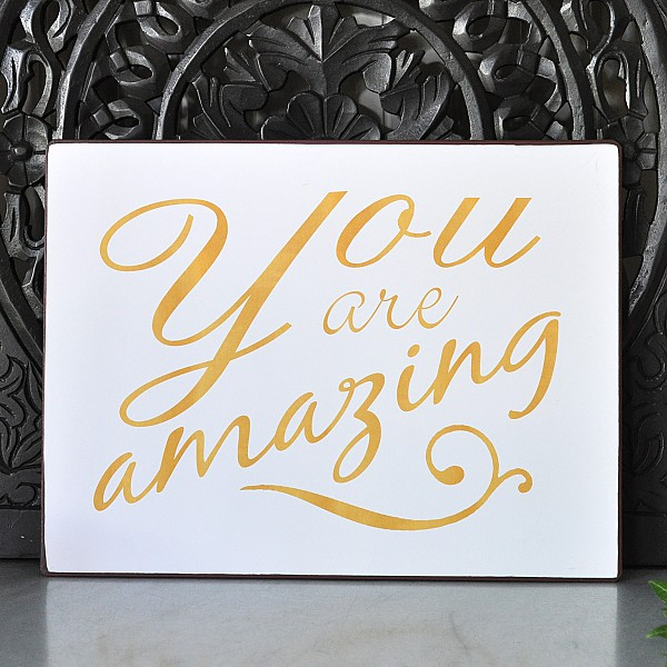 Signs You Re Amazing: Tin Sign You Are Amazing - Lafinesse