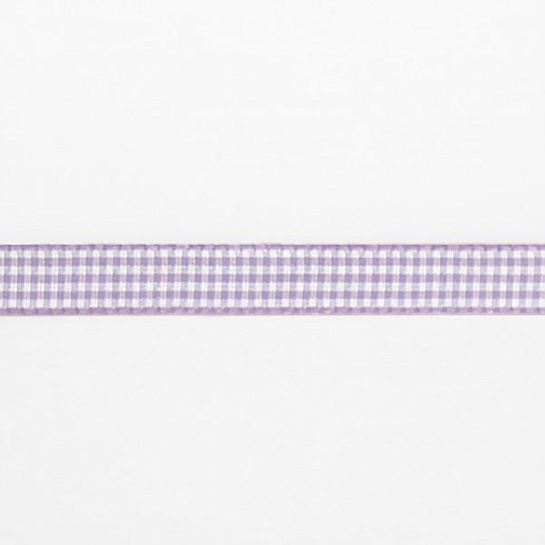 Checkered Ribbon - Purple / White