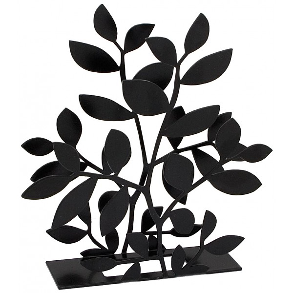 Napkin Holder Foliage - Black