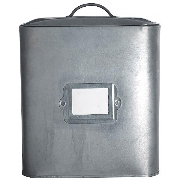 Zinc Box with label holder - Large