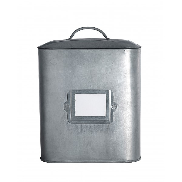Zinc Box with label holder - Small