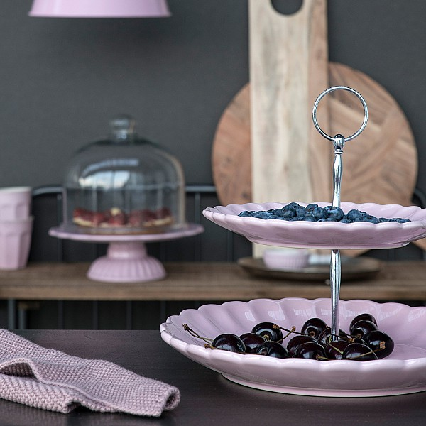 Cake Stand / Cake Dish Mynte - English Rose - Pink