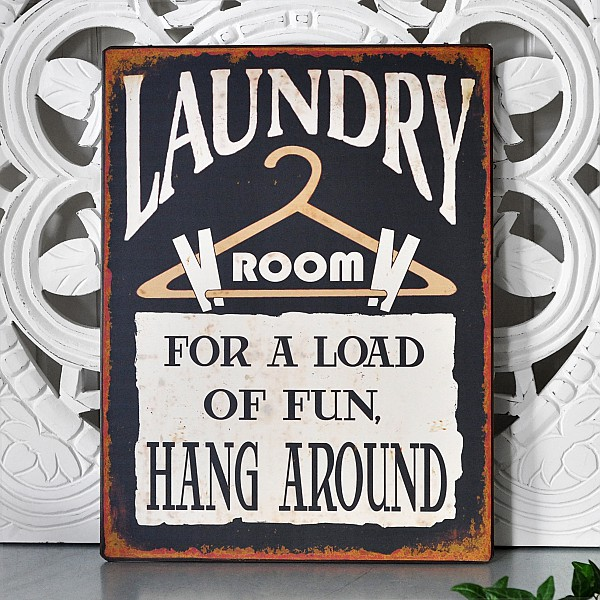 Tin Sign Laundry Room for a Load of fun
