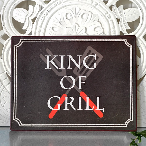 Tin Sign King of grill, La Finesse   Mixin Home