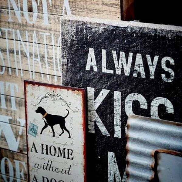 Canvas Always kiss me goodnight - Black