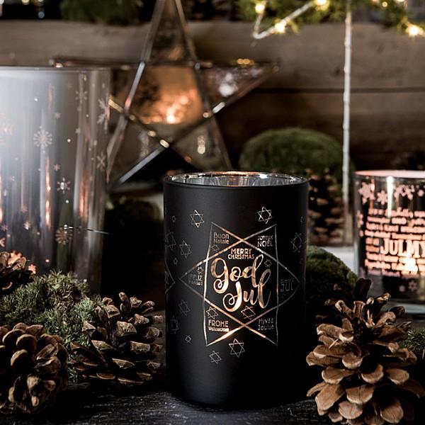 Majas Candle Holder God Jul - Black