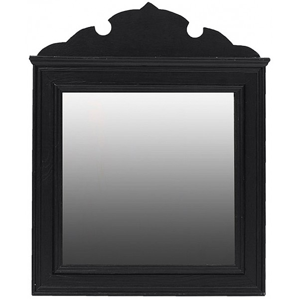 Mirror lumiere 50 x 50 cm black milj g rden mixin home for Miroir 50x50