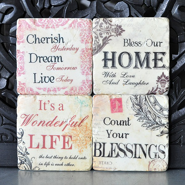 Coasters Home, Cherish, Life, Blessings