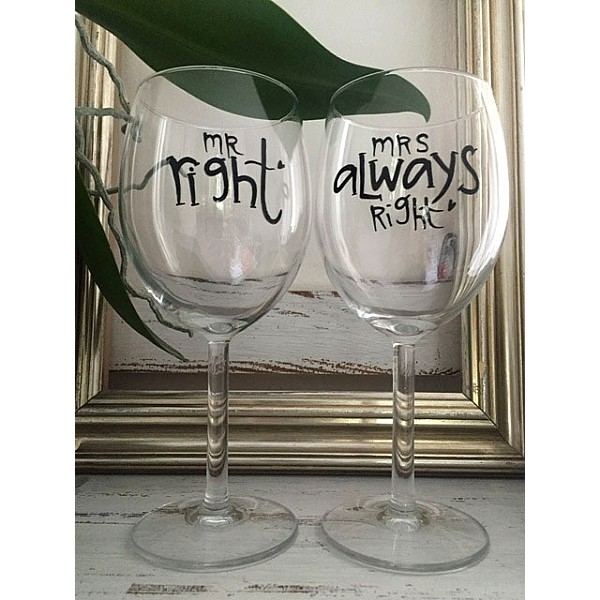 Wine Glass Mrs Always Right Lyckliga L8 Mixin Home