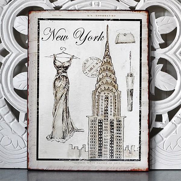 Tin Sign New York