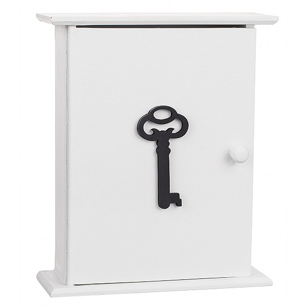 Wooden Key Cabinet Key, White