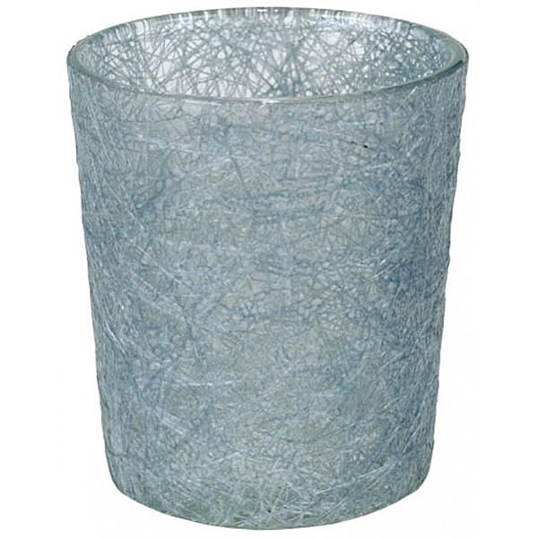 Glass Fibre Tealight Holder Misty Blue