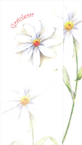 Greeting Card White Flowers