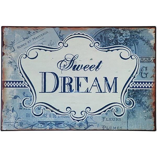 Tin Sign Sweet Dream - Blue