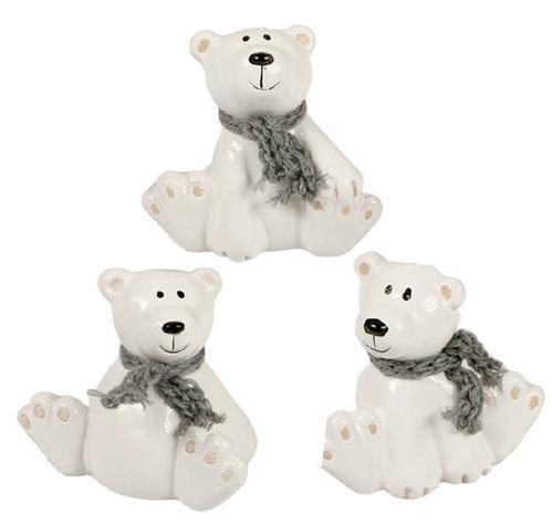 Polar Bears with scarf - 3 pcs
