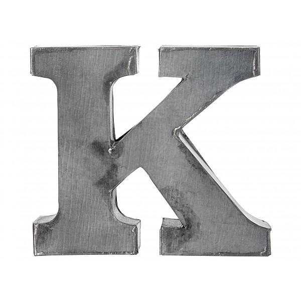 Zinc Letter K