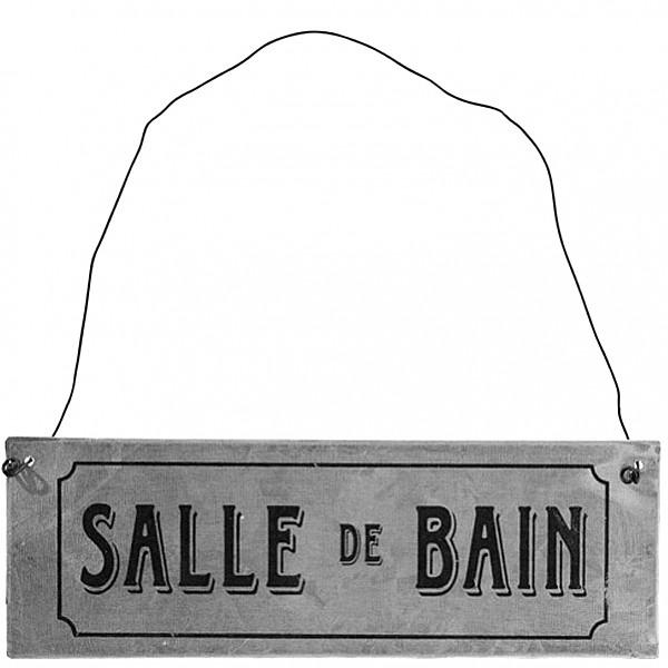 Zinc Sign Salle de bain