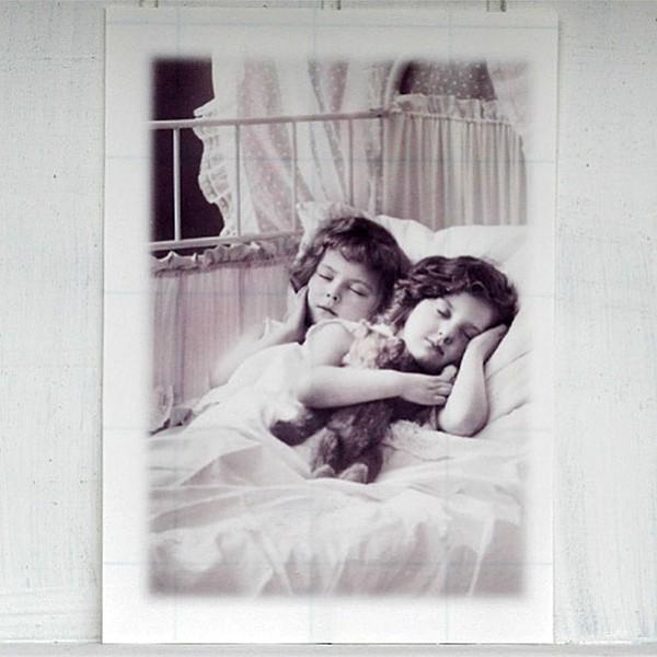 Ironing Picture Sleeping Children