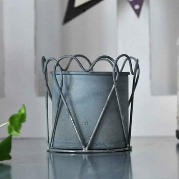 Zinc Pot Heart - Small