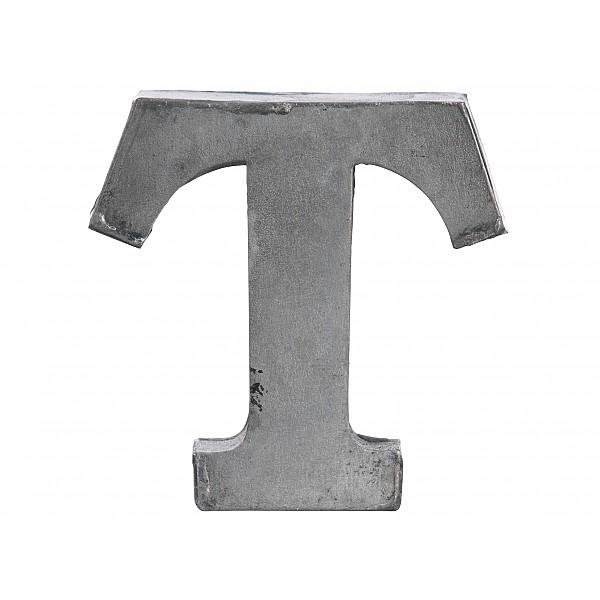 Zinc Letter T