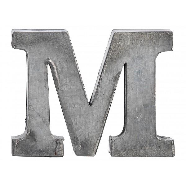 Zinc Letter M