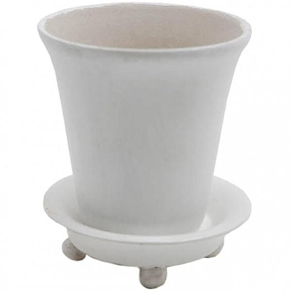 Flower Pot Round White - Large