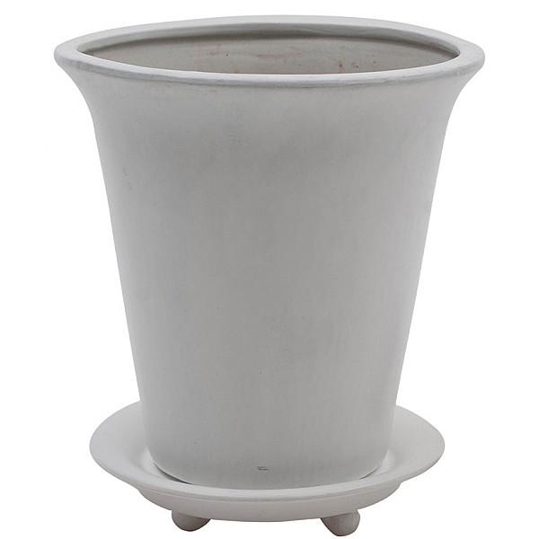 Flower Pot Round White - XL