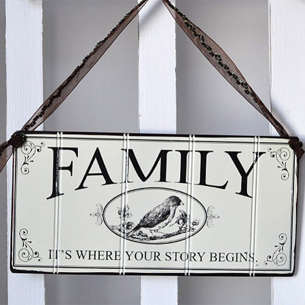 Tin Sign Family it's where your story begins