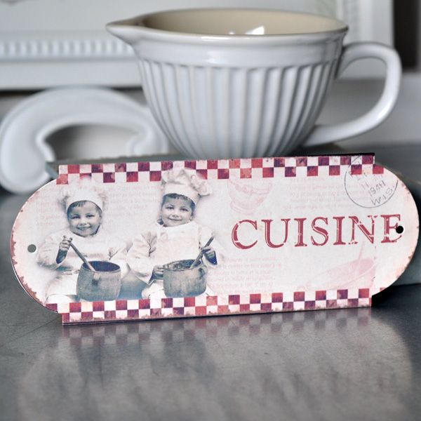 Metal Sign Cuisine - Little Chefs