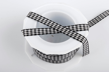 Checkered Ribbon - Black / White