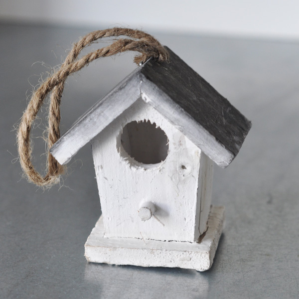Birdhouse Mini - White/Grey