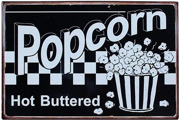 Tin Sign Popcorn