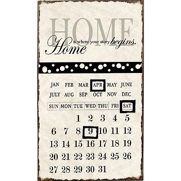 Calendar - Home is where your story begins