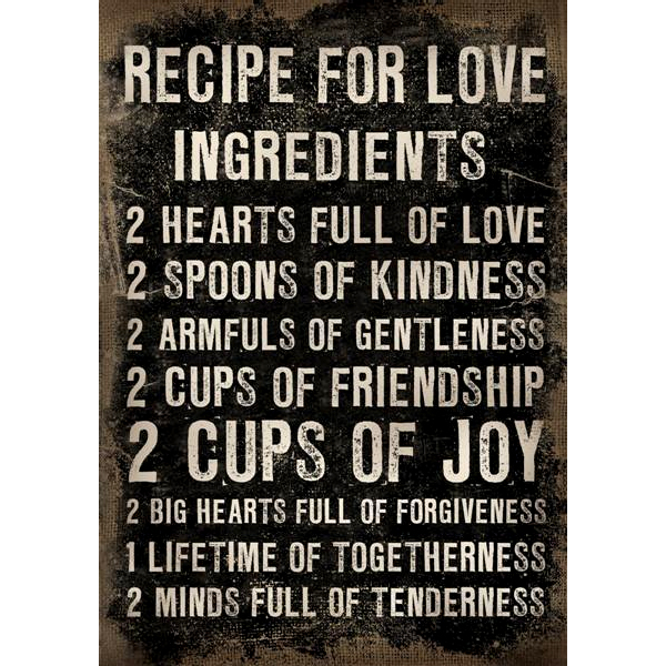 Canvas Recipe for love