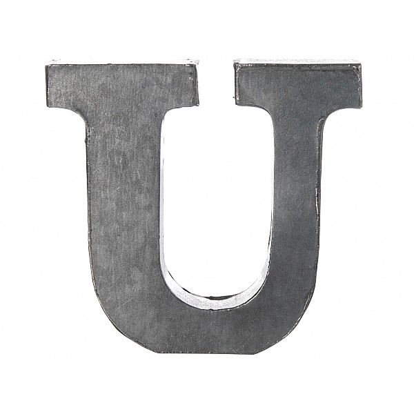 Zinc Letter U