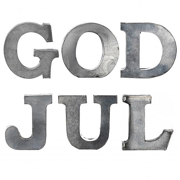 Zinc Letters GOD JUL