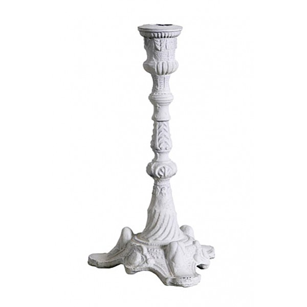 Candlestick / Candle Holder NERO White - 22 cm