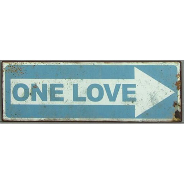 Tin Sign One Love