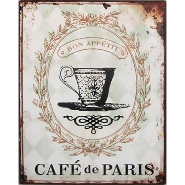 Tin Sign Café de Paris