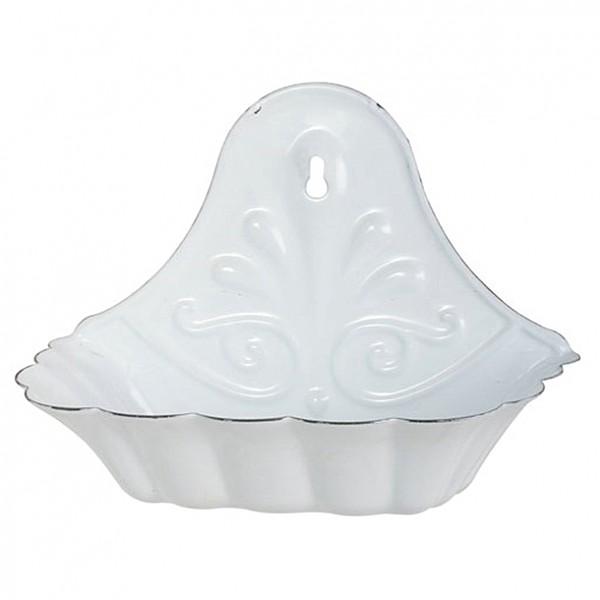 Soap Holder in white enamel