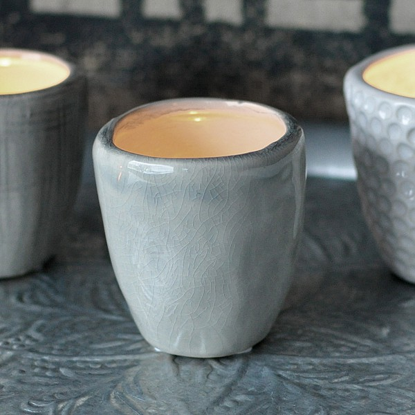 Candle Holder / Mini Pot CUP Light Grey - Small