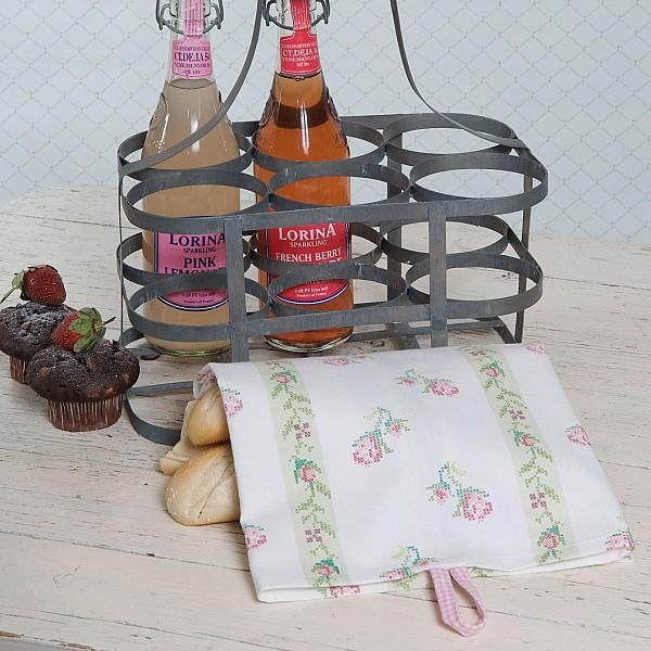 Tea Towel Alma White / Green
