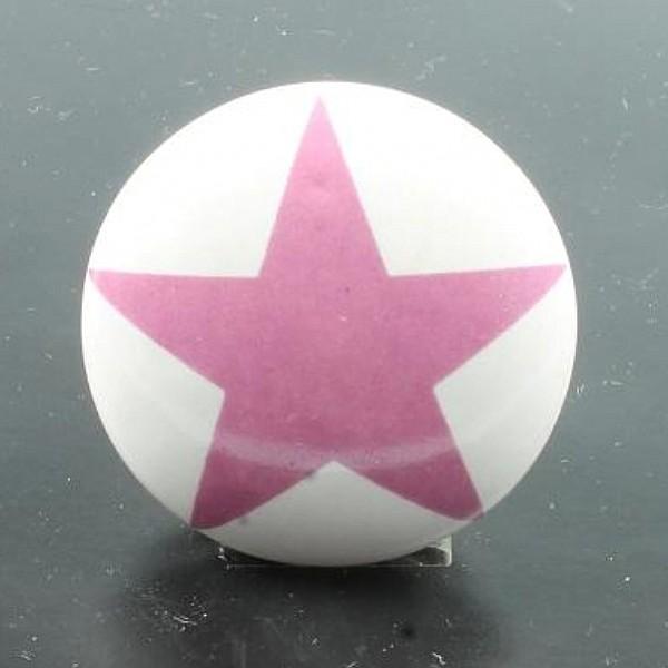 Porcelain Knob Star - Pink