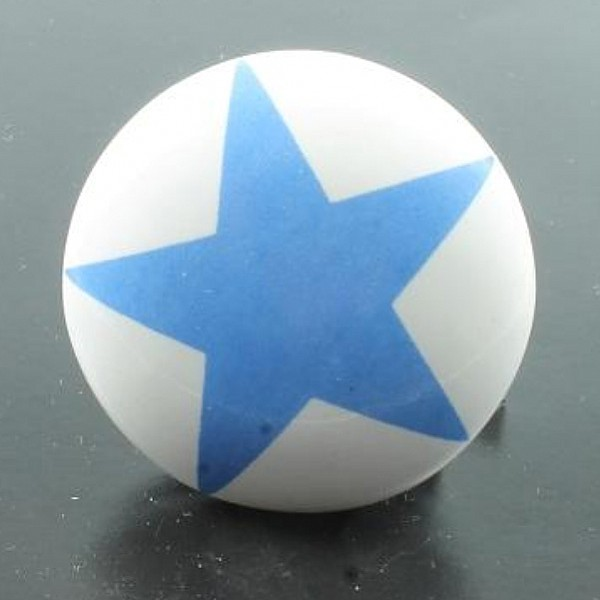 Porcelain Knob Star - Blue