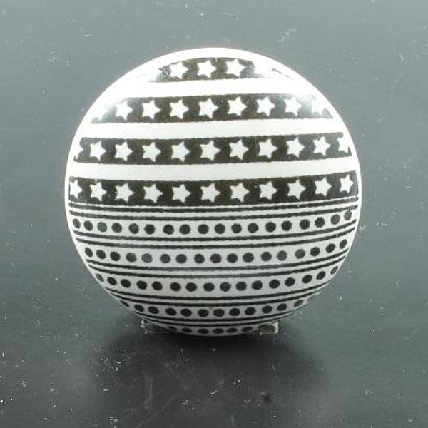 Knob Stars / Dots - White / Black